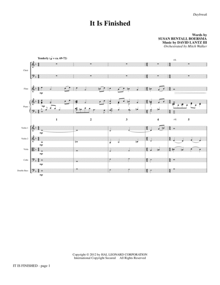 It Is Finished - Full Score