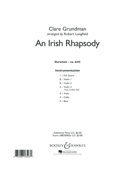 An Irish Rhapsody - Conductor Score (Full Score)
