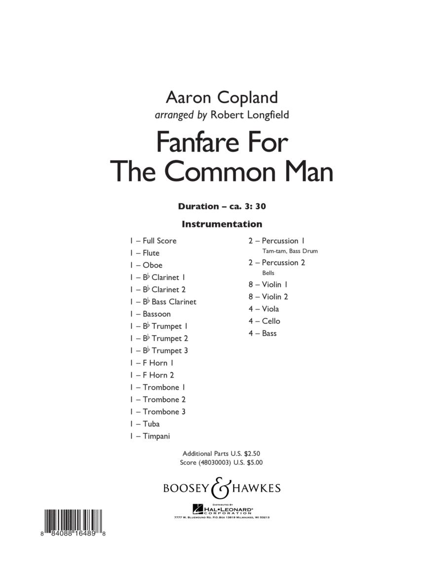Fanfare For The Common Man - Conductor Score (Full Score)