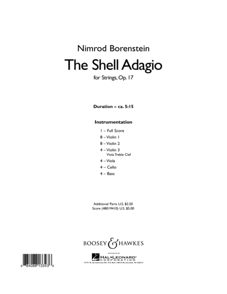 The Shell Adagio - Conductor Score (Full Score)
