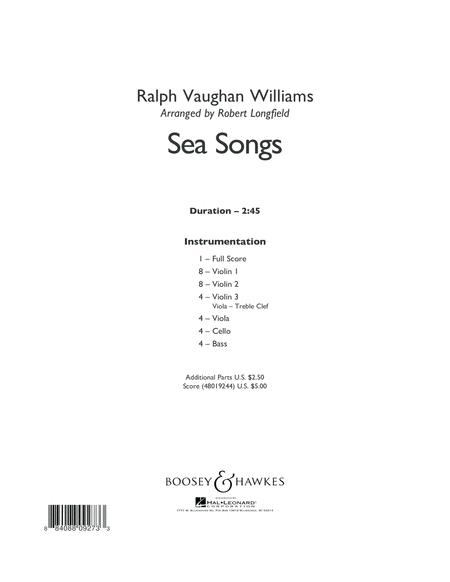 Sea Songs - Conductor Score (Full Score)
