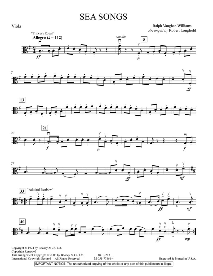 Sea Songs - Viola