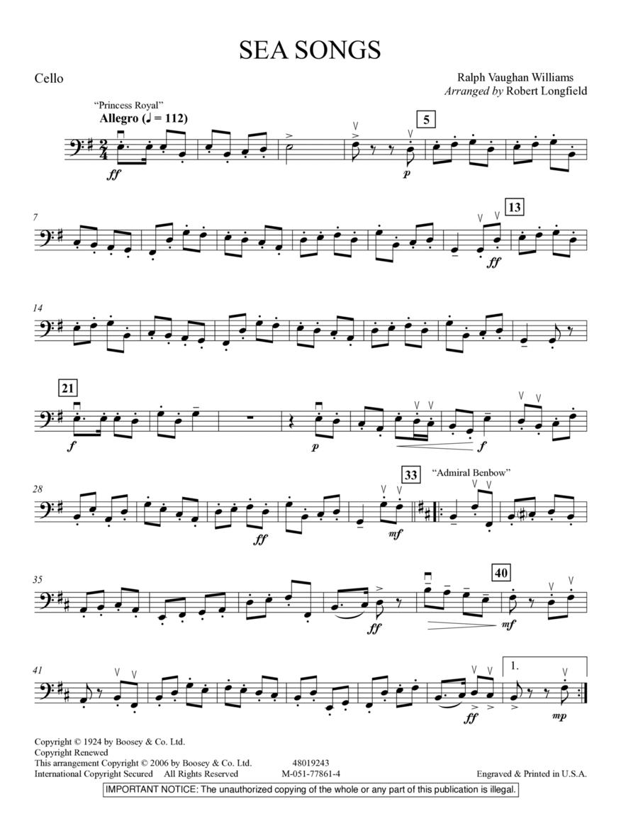 sea songs vaughan williams pdf