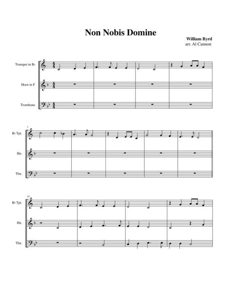 Non nobis domine (William Byrd) for Brass Trio