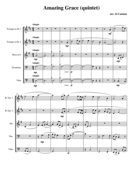 Amazing Grace for Brass Quintet