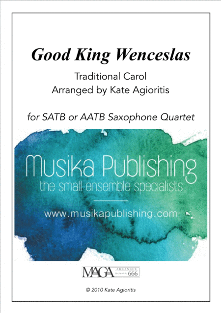 Good King Wenceslas - for Saxophone Quartet