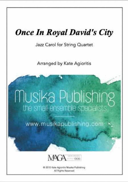 Once in Royal David's City - Jazz Carol for String Quartet