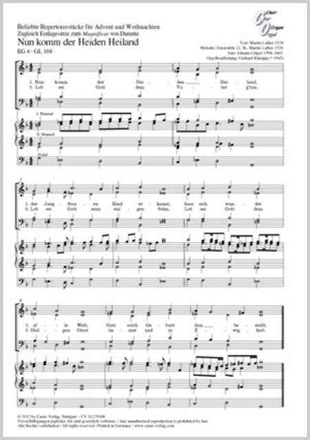 Beliebte Repertoirestucke fur Advent und Weihnachten. Zugleich Einlagesatze zum Magnificat von Durante