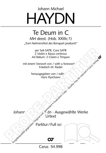 Te Deum in C