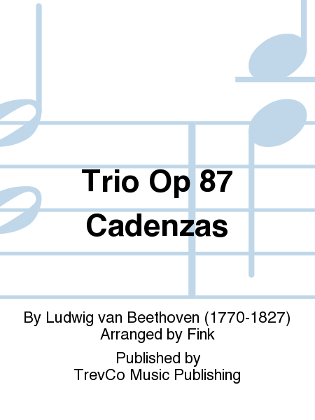 Trio Op 87 Cadenzas