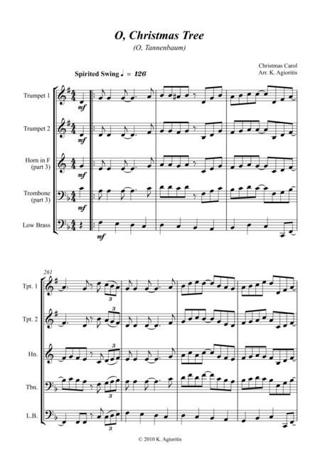 O Christmas Tree - Jazz Carol for Brass Quartet