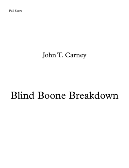 Blind Boone Breakdown