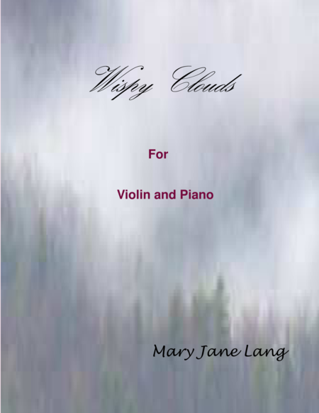 Wispy Clouds for Violin and Piano