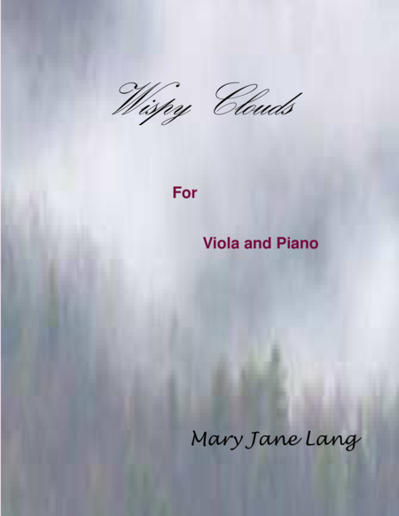 Wispy Clouds for Viola and Piano