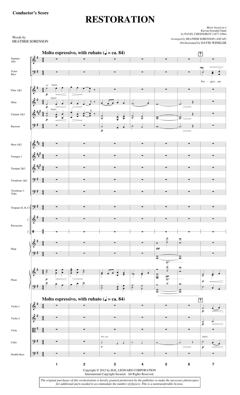 Restoration - Score