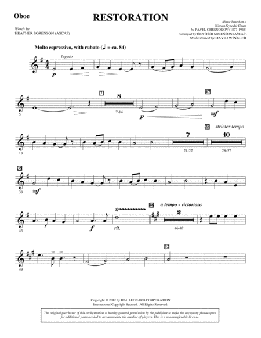 Restoration - Oboe