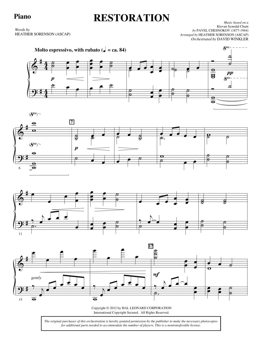 Restoration - Piano