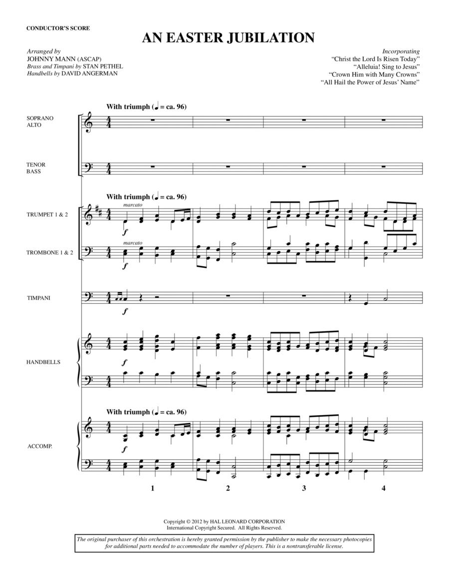 An Easter Jubilation - Score
