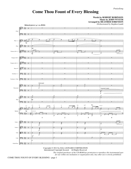 Come, Thou Fount Of Every Blessing - Full Score