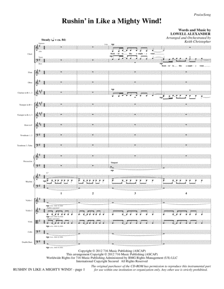 Rushin' In Like A Mighty Wind! - Full Score
