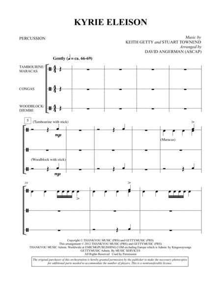 Kyrie Eleison - Percussion