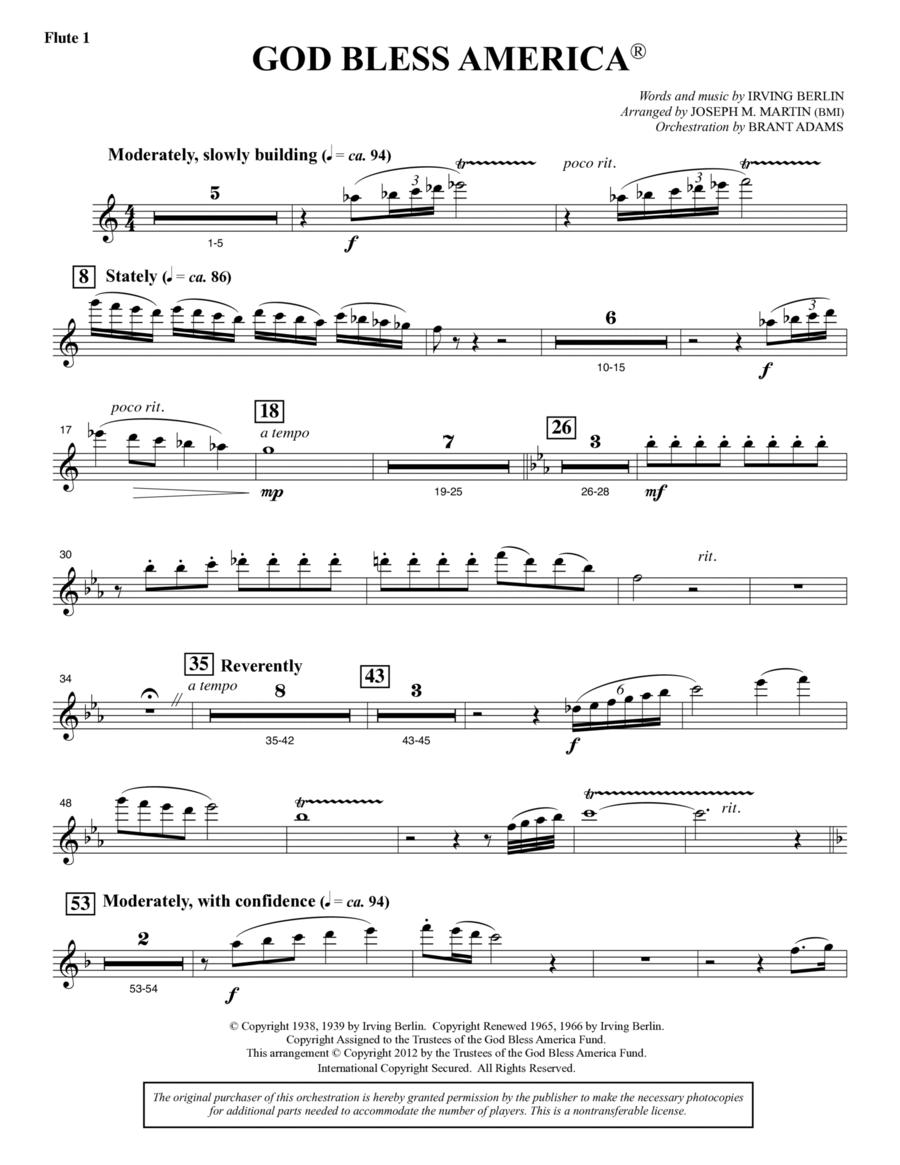 God Bless America - Flute 1