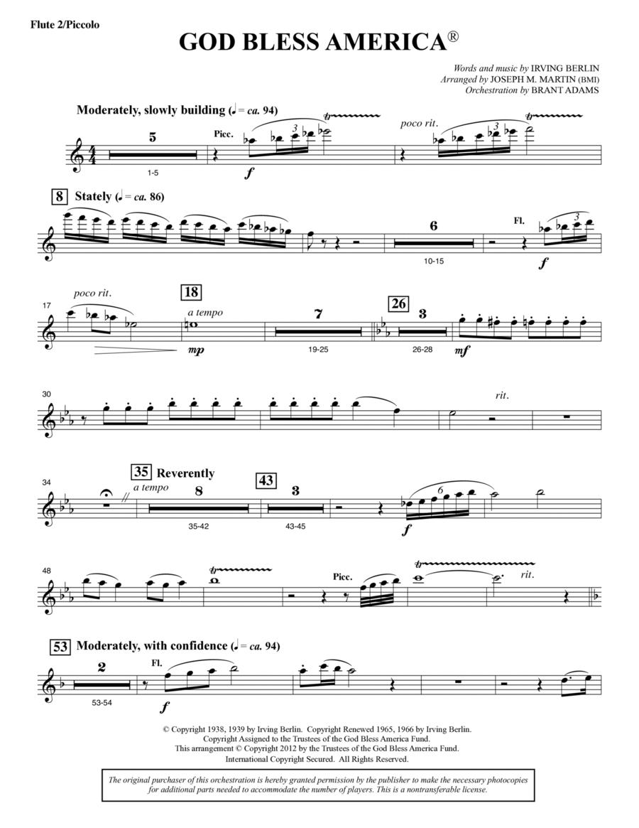 God Bless America - Flute 2