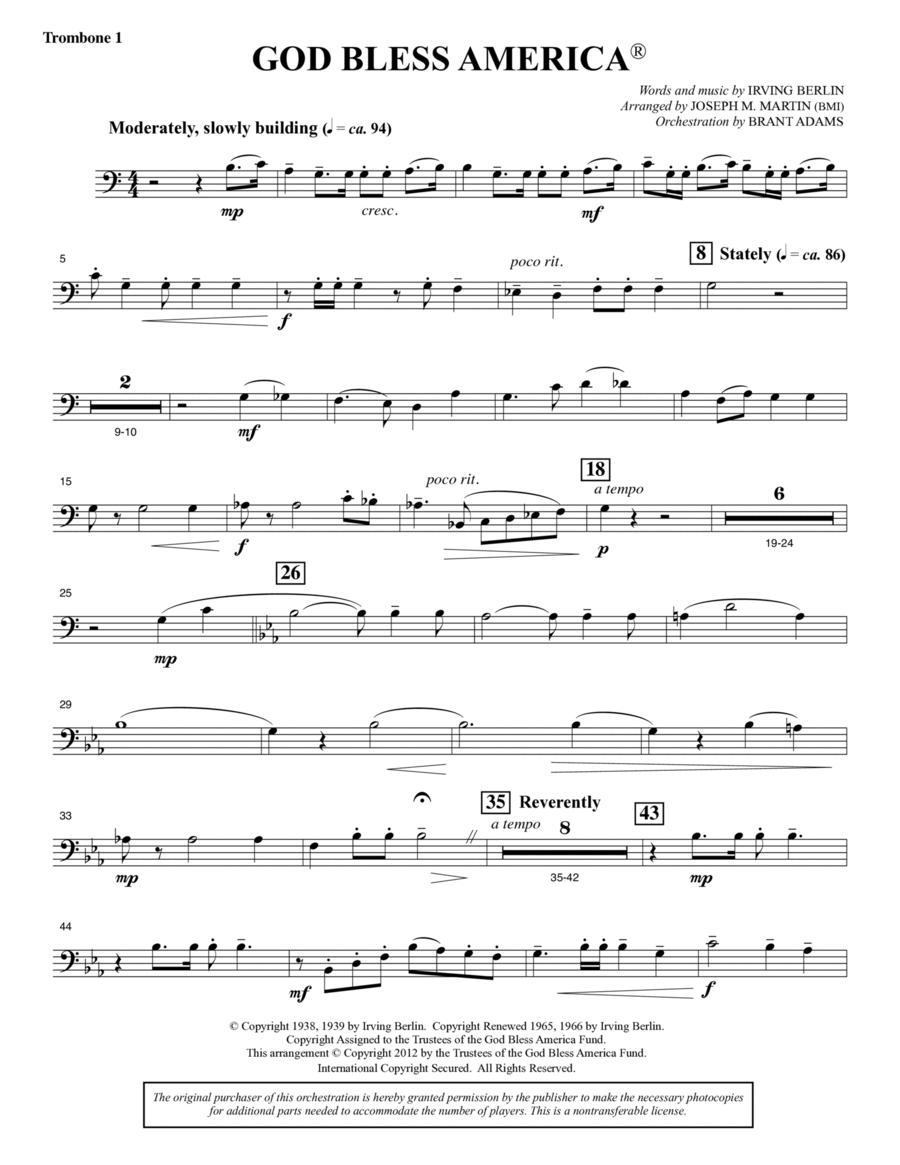 God Bless America - Trombone 1