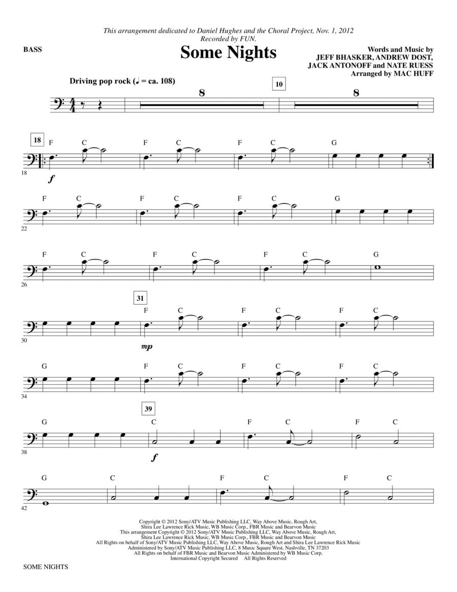 Some Nights - Bass