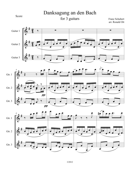 Danksagung an den Bach