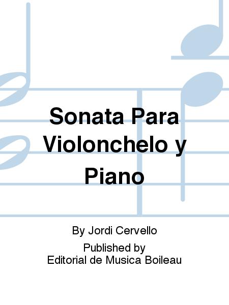 Sonata Para Violonchelo y Piano