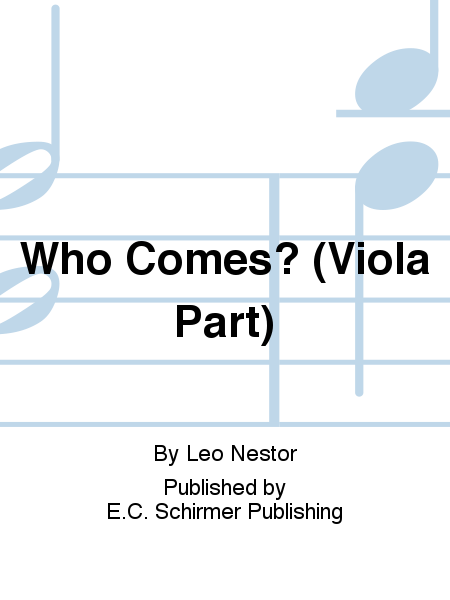 Three Carols: 1. Who Comes? (Viola Part)