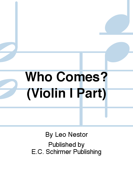 Three Carols: 1. Who Comes? (Violin I Part)