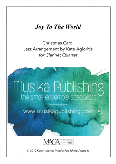 Joy to the World - Jazz Carol for Clarinet Quartet