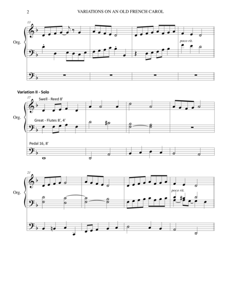 VARIATIONS ON AN OLD FRENCH CAROL