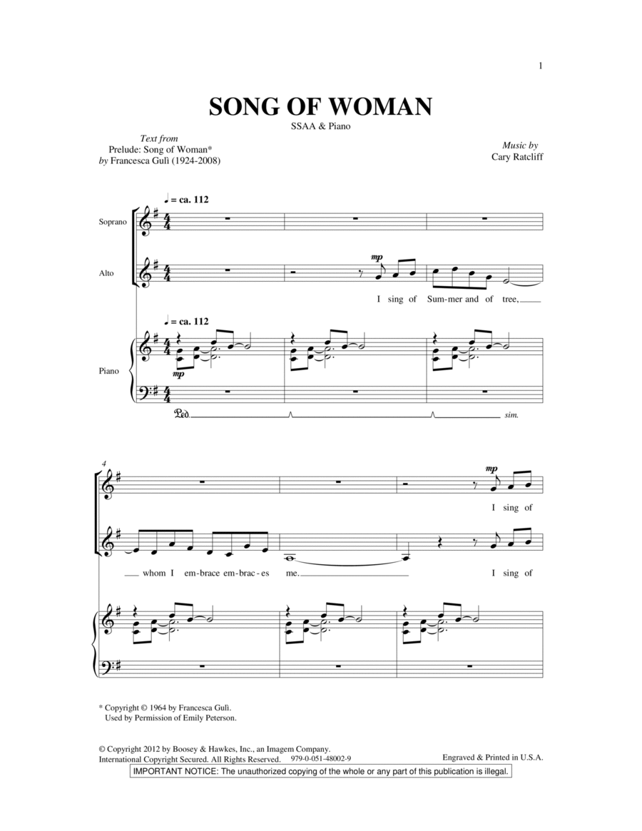 Song Of Woman