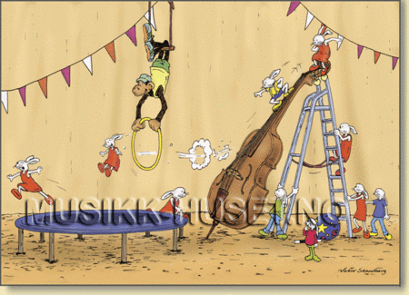 Postkort, Sirkus m/Kontrabass