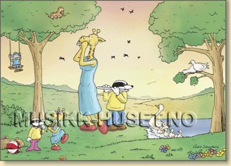 Postkort, Floyte/Morgenstemning