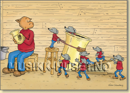 Postkort, Julekort Tuba