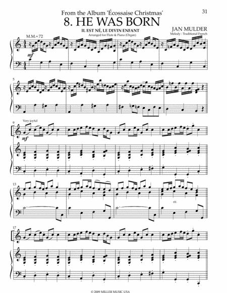 He Was Born - Flute & Organ