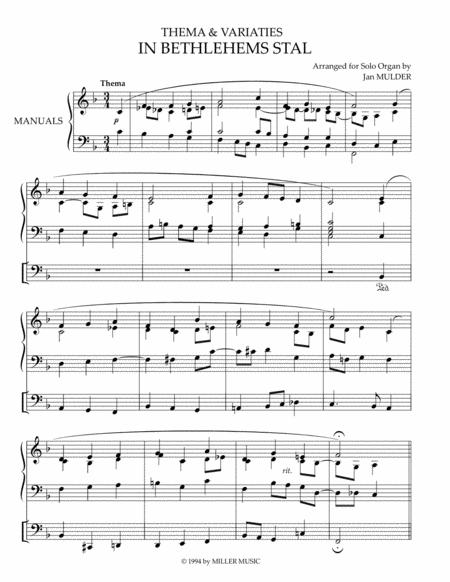 In Bethlehems Stal - Orgel Solo