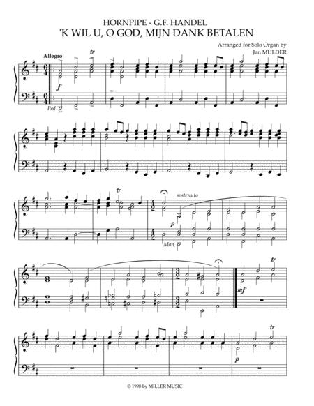 K Wil U O God Mijn Dank Betalen - Orgel Solo