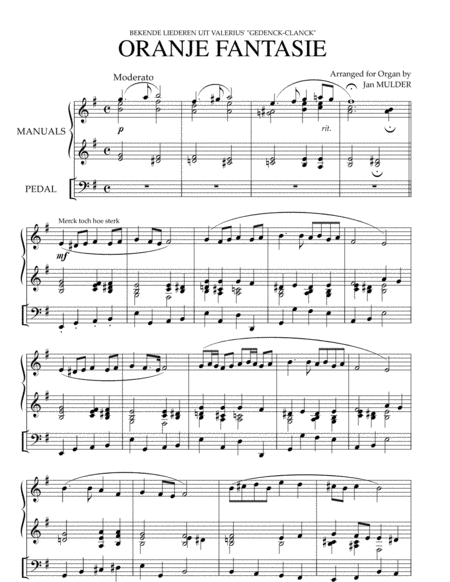 Oranjefantasie - Orgel Solo
