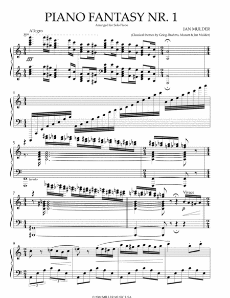 Piano Fantasy Nr. 1 Grieg Mozart Brahms