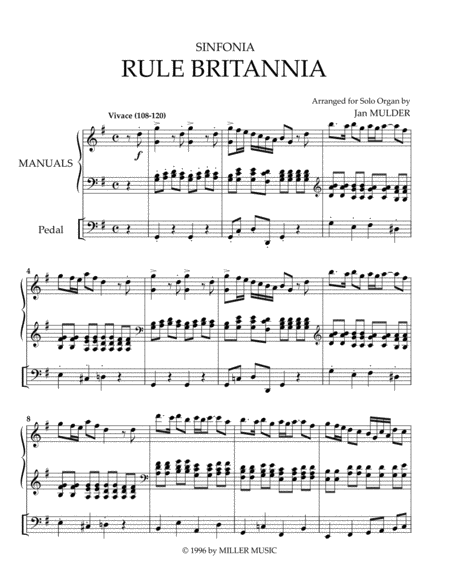 Rule Britannia - Solo Organ