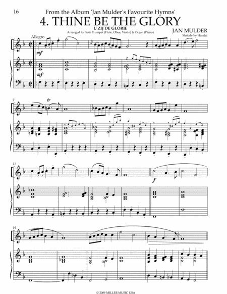 Thine Be the Glory - Trumpet & Piano