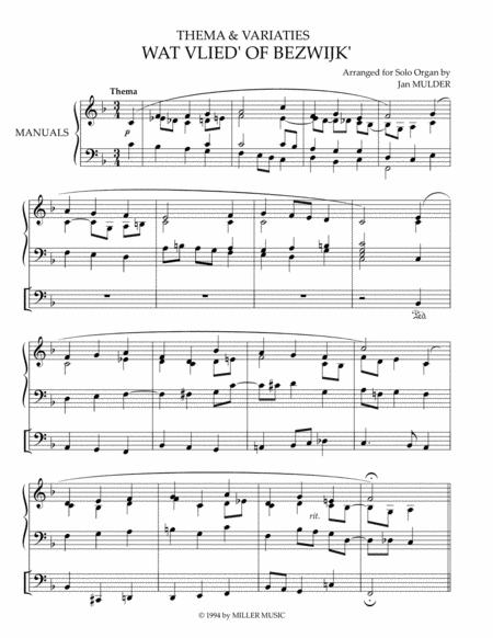 Wat Vlied of Bezwijk - Orgel