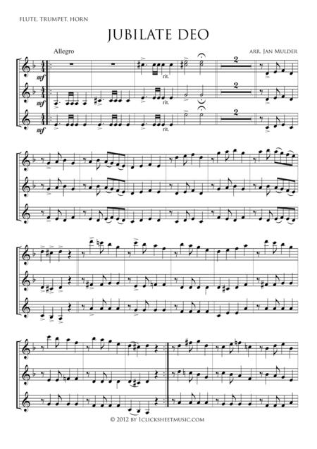 Jubilate Deo - Flute, Trumpet, Horn