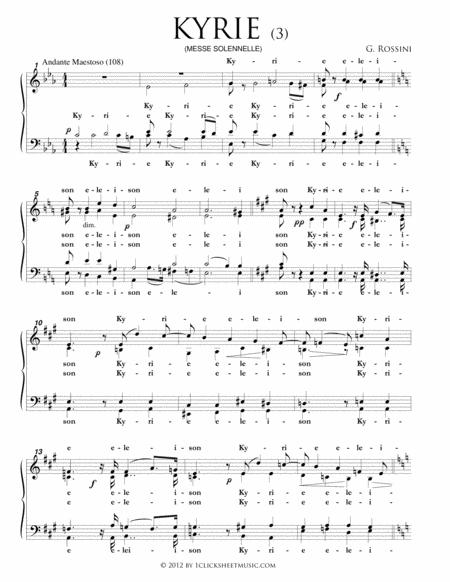 Kyrie - Part 3 (Messe Solenelle)