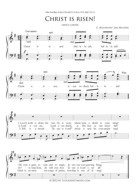 Christ Is Risen / Easter / Men's Choir
